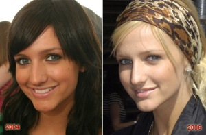 Ashlee Simpson- Before and After